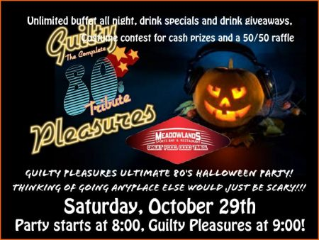 Ultimate 80's Halloween Party! @ Meadowlands Restaurant and Sports Bar | East Meadow | New York | United States